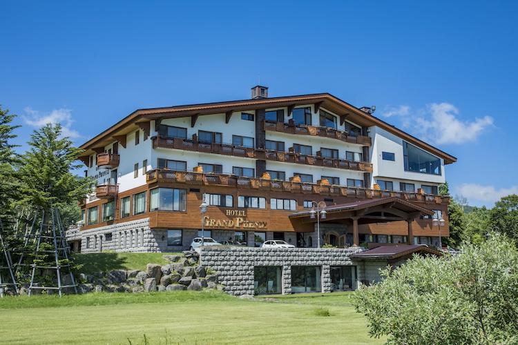 今回ワーケーション体験を行った宿泊施設「ホテルグランフェニックス奥志賀」