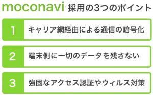 moconavi採用の3つのポイント