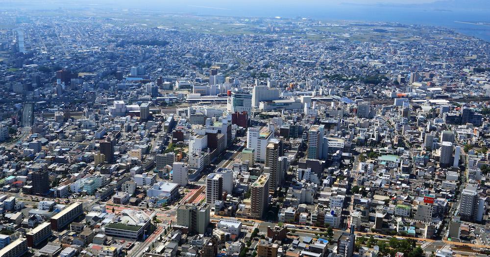 サーラグループ 豊橋駅前上空